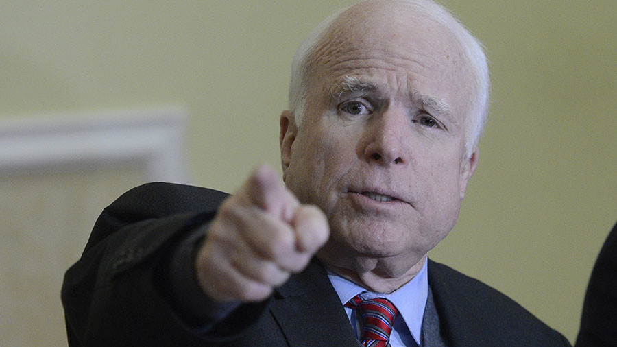 Cyber-bomb Russia, McCain begs in new book