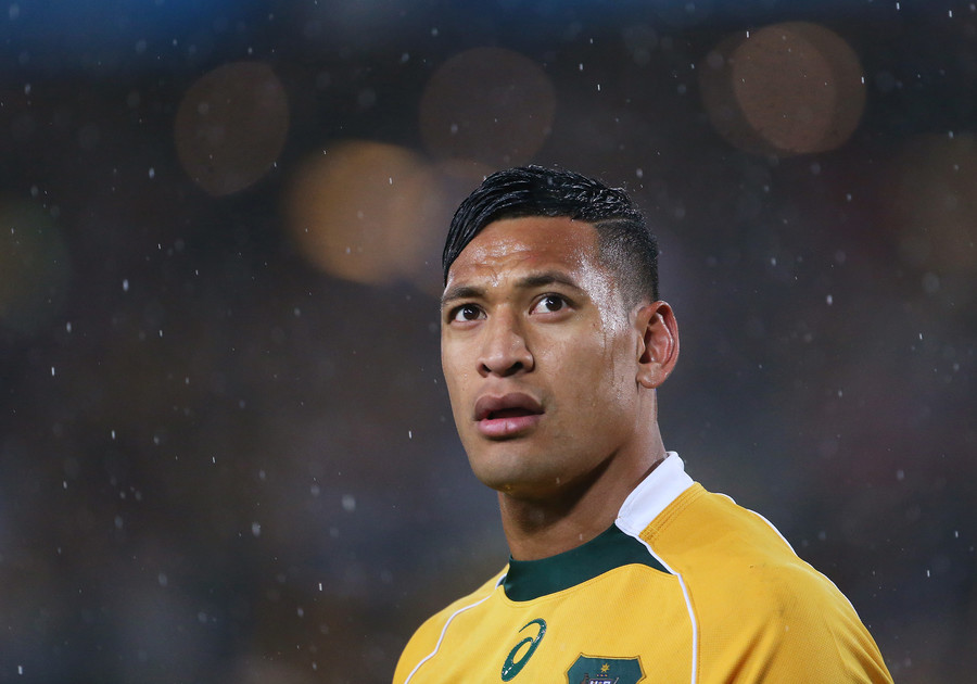 Australian rugby star Folau 'stands firm' that gay people 'will go to hell'