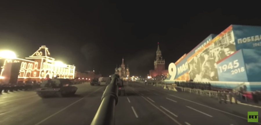 Ride the Msta-S howitzer through Red Square in RT 360's V-day parade rehearsal VIDEO