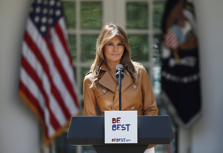 'I can't understand her English': Melania trolled for #BeBest speech