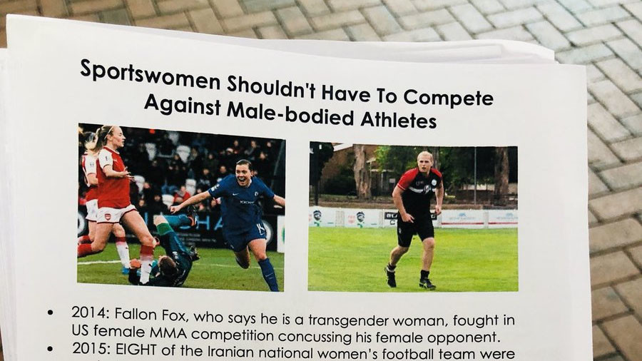 FA condemns anti-transgender flyers spread among fans at women's football Cup final