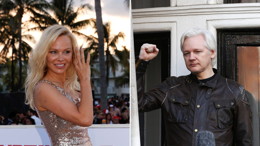'They're trying to kill him': Pamela Anderson wants Kanye's help to free Assange
