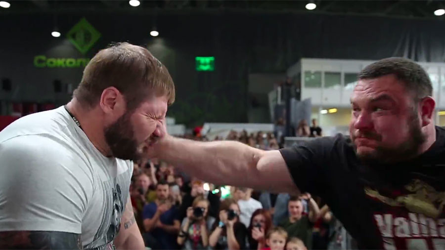 Red cheeks, swollen eyes and bruised faces: Watch Russian men in slapping contest (VIDEO, PHOTOS)