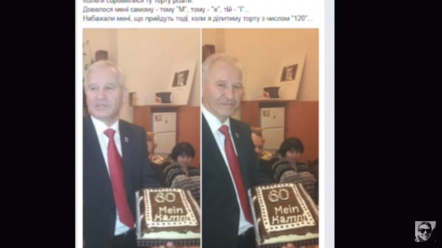Kiev recalls consul from Germany over claims he hailed Nazis, denied Holocaust, received Hitler cake