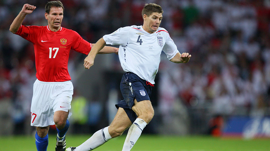 England fans & Volgograd veterans to play friendly with Liverpool legend Steven Gerrard