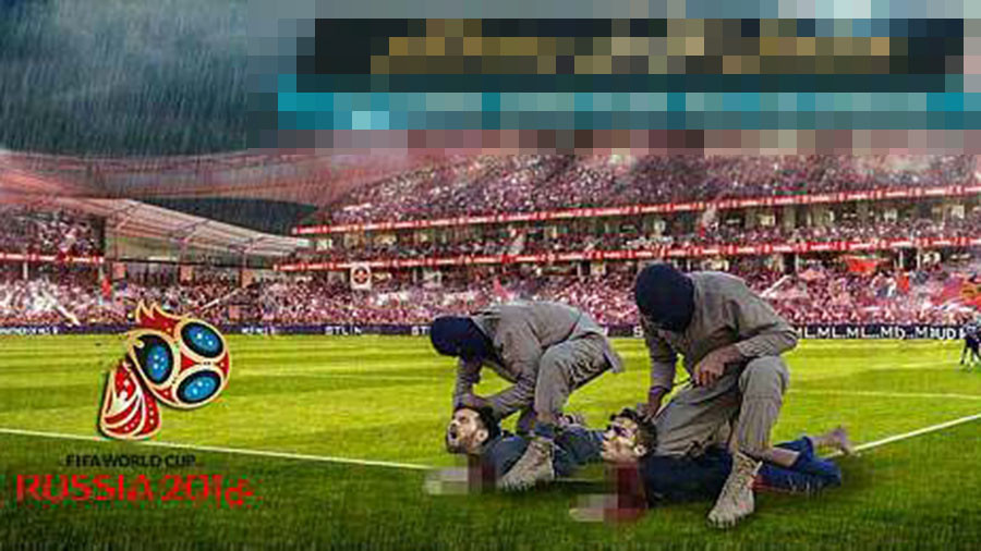 Islamic State uses vile posters to threaten Messi & Ronaldo beheadings at Russia World Cup (PHOTOS)