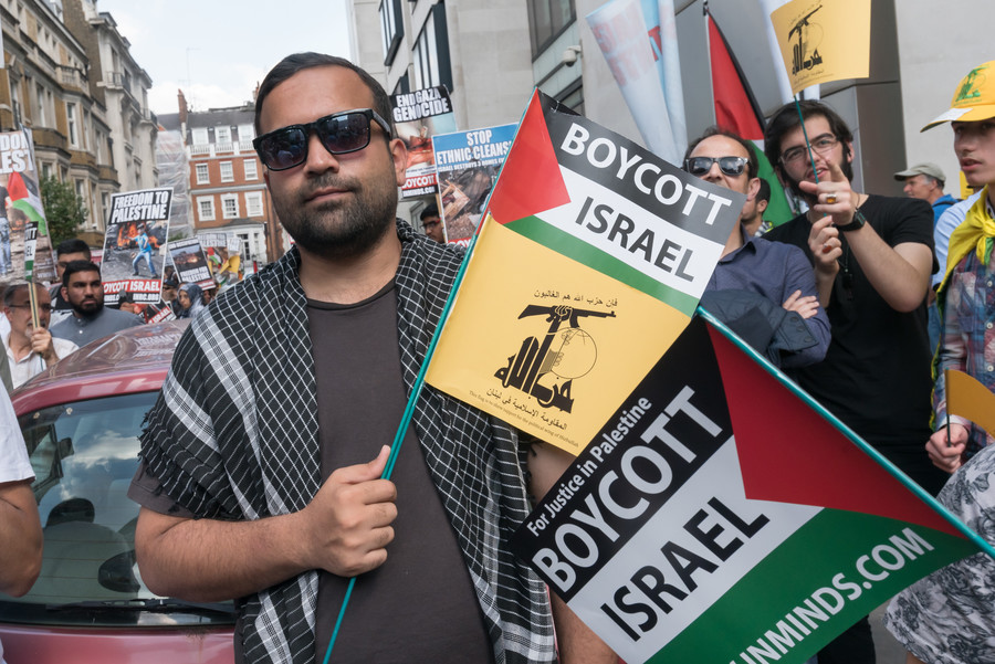 Joint Jewish-Muslim plea over possible Hezbollah presence at pro-Palestinian London march
