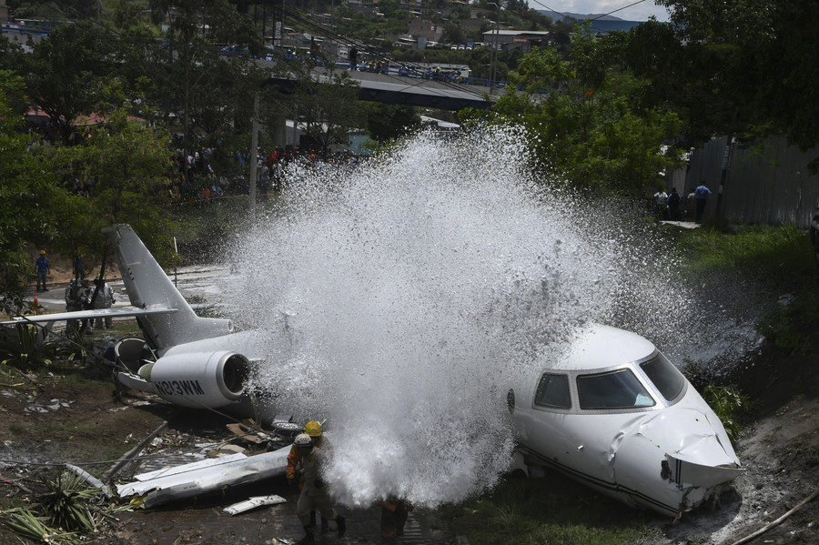 Private jet from Texas crashes in Honduran capital