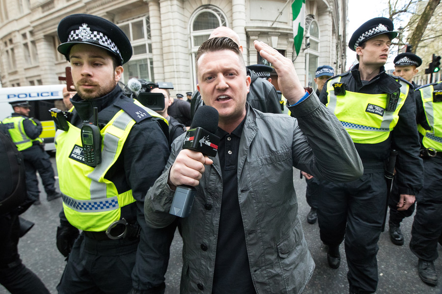 Tommy Robinson jailed for 13 months after filming outside child sex grooming trial