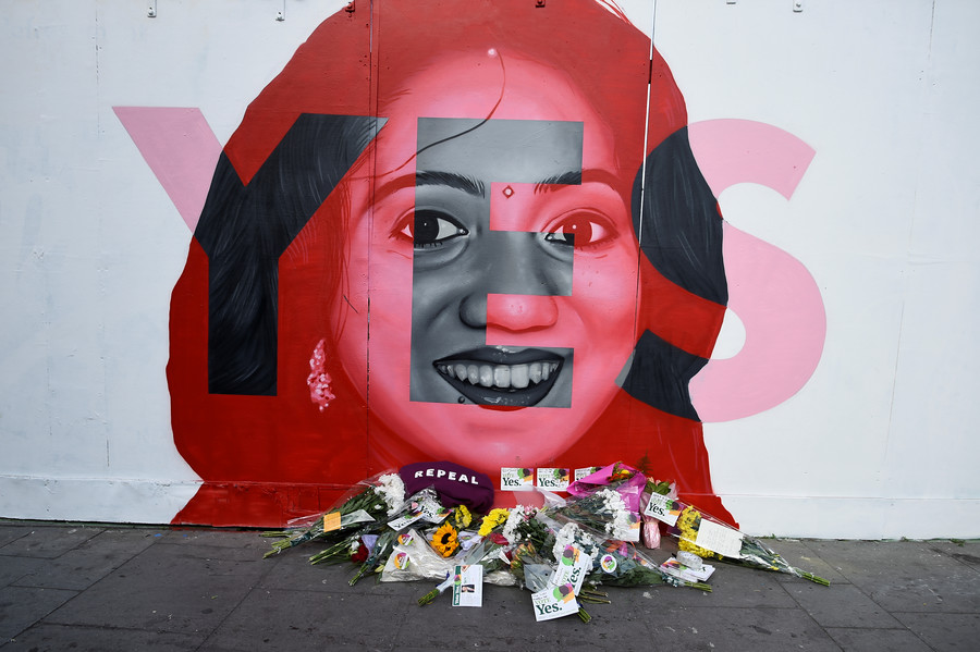 Mural of Savita Halappanavar in Dublin Ireland