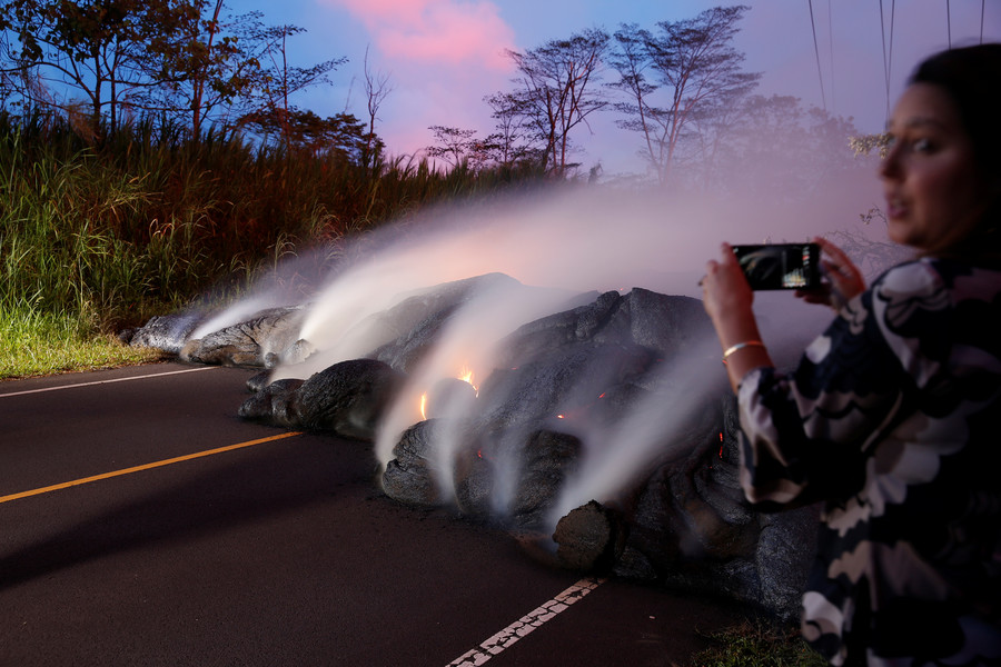 No, it's not safe to roast marshmallows over Kilauea volcano, in case you wondered