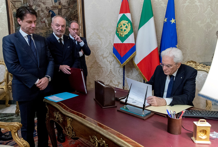Italy's Euroskeptic coalition forms new cabinet after president's 'undemocratic' veto
