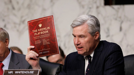 Sen. Sheldon Whitehouse (D-RI) asks a question as former acting Attorney General Sally Yates testifies about potential Russian interference in the presidential election before the Senate Judiciary Committee on Capitol Hill Washington, D.C., U.S. May 8, 2017. © Aaron P. Bernstein