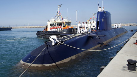 Israeli Rahav Dolphin-class submarines, widely believed to be capable of firing nuclear missiles. © Baz Ratner