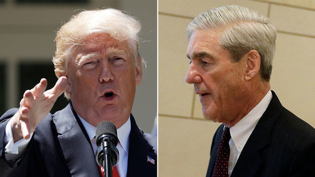 U.S. President Donald Trump (L), Special Counsel Robert Mueller (R) © Reuters