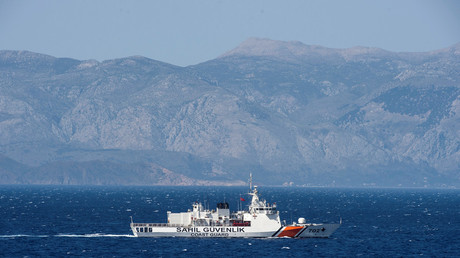 Turkish cargo vessel 'rams' Greek warship in Aegean Sea