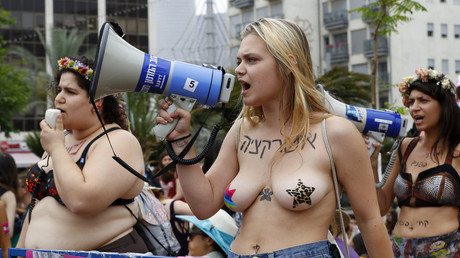 'Not your toy': 5,000 feminists go on topless SlutWalk in Tel Aviv in spirit of #MeToo (PHOTOS)