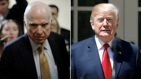 Twitter erupts after Senator McCain 'disinvites' Trump to his funeral