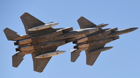 FILE PHOTO : Saudi Air Force advanced F-15SA fighter jets ©  Fayez Nureldine / AFP
