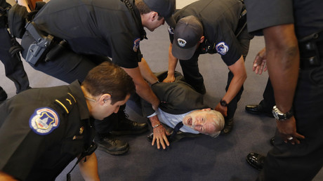 Former CIA analyst dragged from Haspel hearing by Capitol Police after anti-torture protest