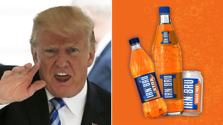 'They can take our Irn Bru, but they'll never take our freedom!' Scots blast Trump for soda ban
