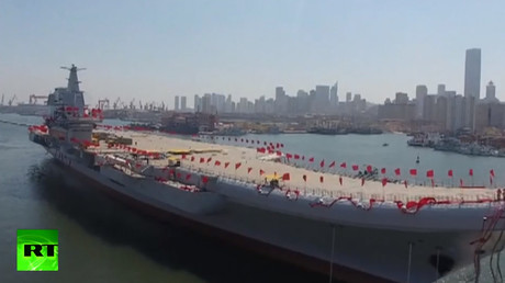 VIDEO: China's 1st home-built aircraft carrier heads out for sea trials