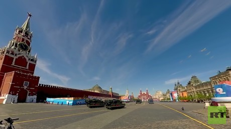 V-Day parade 360: Military planes fly over Moscow