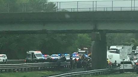 2 dead, 43 injured in horror crash between school bus and truck in New Jersey (VIDEO, PHOTOS)