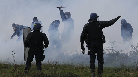 Protesters defy 1,500 French riot police in renewed expulsions from 'eco-camp'
