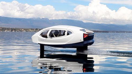 Futuristic 'flying' taxi takes to the River Seine in Paris (PHOTOS)