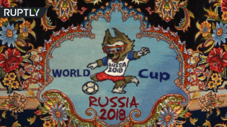 Carpet diplomacy: Iran unveils World Cup-themed rugs to be gifted in Russia (VIDEO)