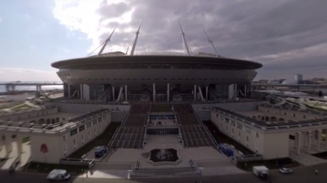 2018 FIFA World Cup: Saint Petersburg Stadium (360 VIDEO)