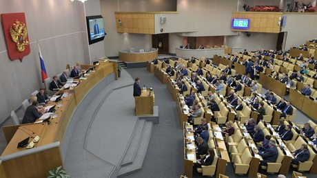 The Russian State Duma looks into the bill on countering unfriendly actions by the United States and their allies © Vladimir Fedorenko