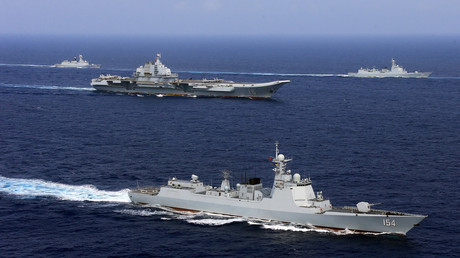 Chinese PLA Navy units on maneuvers, April 2018 © China Stringer Network