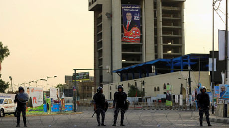 FILE PHOTO: Police in Tahrir Square, central Baghdad, Iraq © Thaier Al-Sudani
