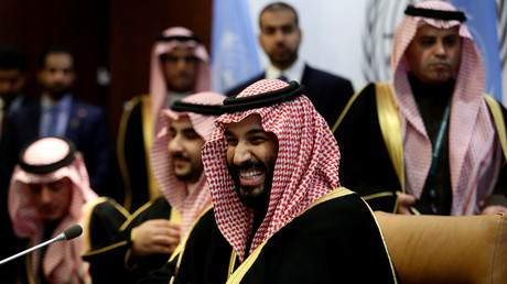 Saudi Arabia's Crown Prince Mohammed bin Salman Al Saud during a meeting at the United Nations headquarters, New York, US, March 27, 2018 © Amir Levy