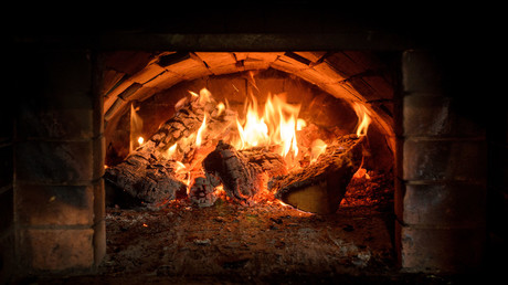 Open crematorium furnace sends human ashes up into California skies
