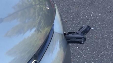 Hit & gun: Firearm thrown onto motorway smashes into speeding car (PHOTOS)