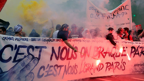'You can't buy France!': Thousands rally against Macron's planned mass lay-offs (PHOTO, VIDEO)