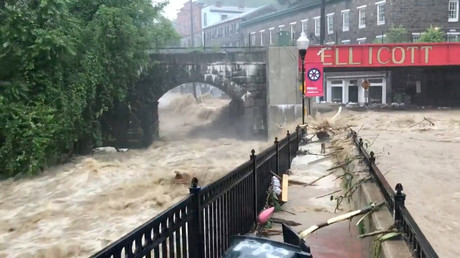 Roads submerged as severe flash flooding hits Maryland (VIDEOS)