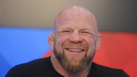 Jeff Monson aat the press conference dedicated to his first fight for the Russian team © Moskva News Agency