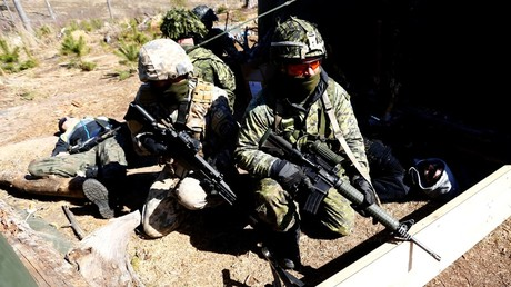 Italian troops of the NATO eFP battle group attend a joint exercise with the Latvian National Guard © Ints Kalnins