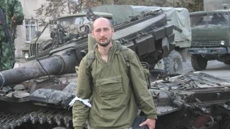 FILE PHOTO. Arkadiy Babchenko in Tskhinvali, South Ossetia.