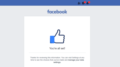 5b0dda8cdda4c85c5a8b4581 Facebook accused of 'tricking' users into signing privacy agreement