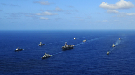FILE PHOTO: Indian ships escort USS Ronald Reagan © Kevin B. Gray / US Navy