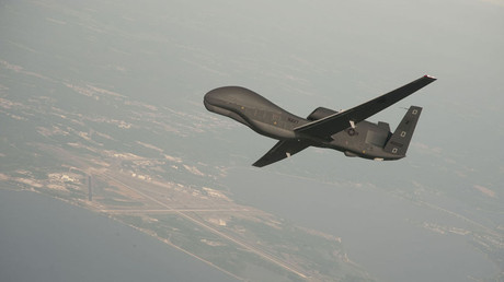 Undated file photo courtesy of the US Navy shows a RQ-4 Global Hawk unmanned aerial vehicle © Erik Hildebrandt