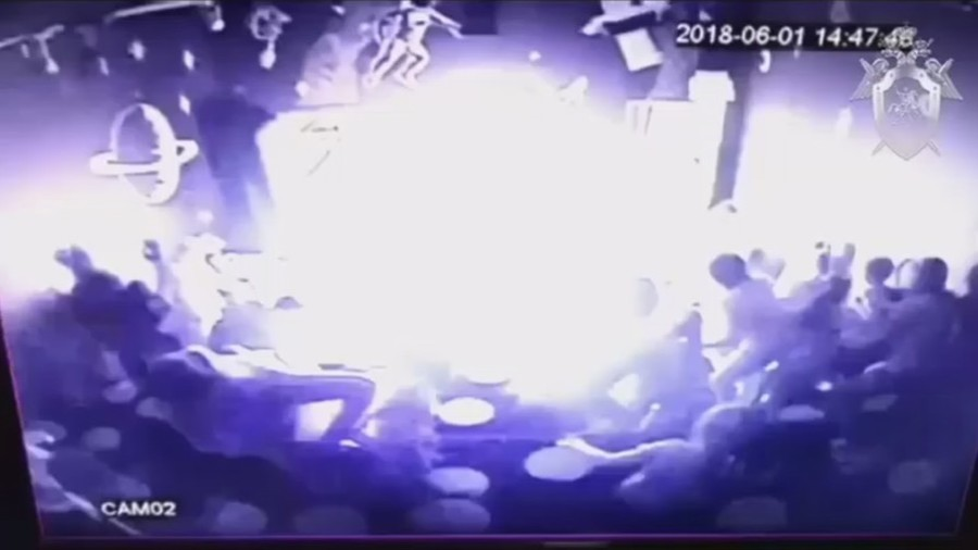 Fireball engulfs children watching science show in Russian mall (VIDEO)