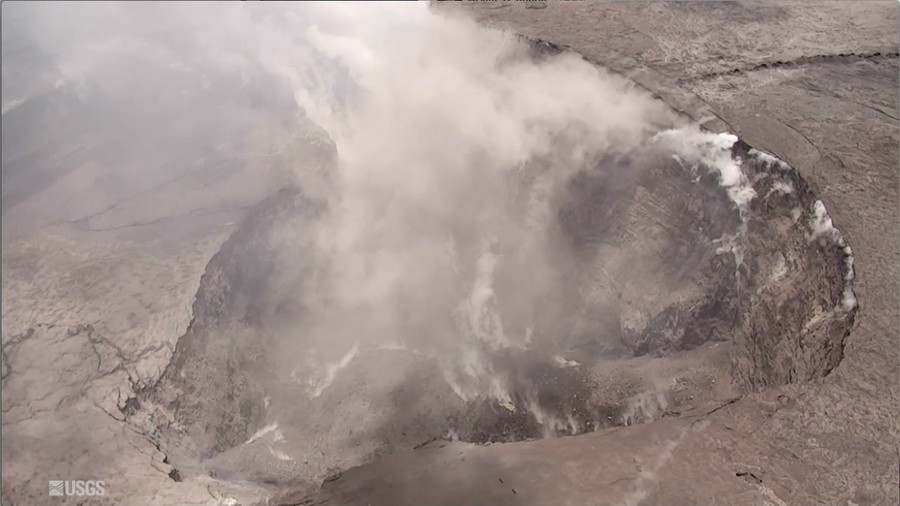 Drone footage shows crater the size of '90 football fields' at summit of Kilauea volcano (VIDEO)