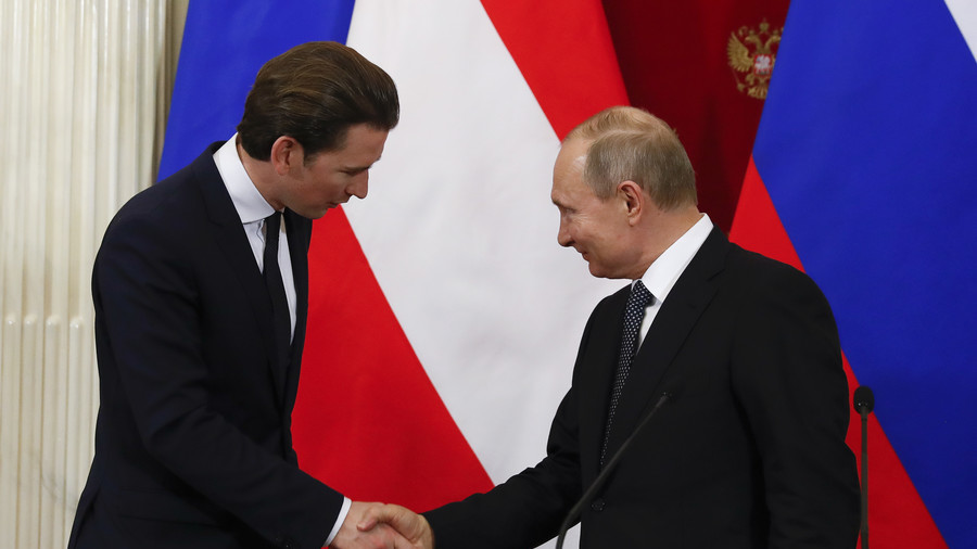 Putin pushes for end to 'harmful' sanctions during Austria visit class=