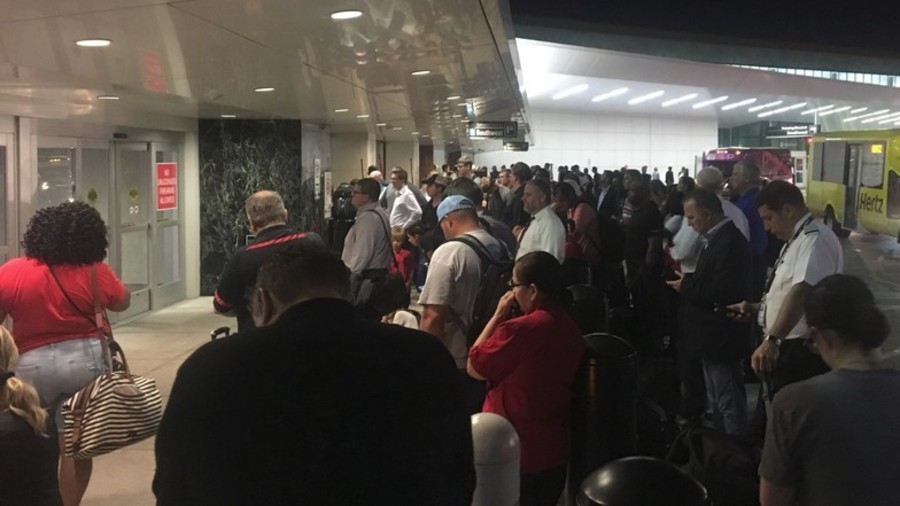 Boy Scout's toy grenade prompts Texas airport evacuation